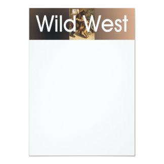 Lucha del oeste salvaje de la CAMISETA Invitación 12,7 X 17,8 Cm