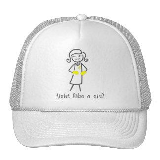 Lucha del sarcoma como un chica (retro) gorras de camionero
