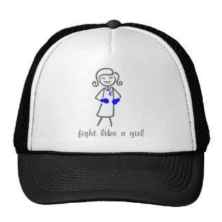 Lucha del síndrome de Sjogren como un chica (retro Gorras De Camionero