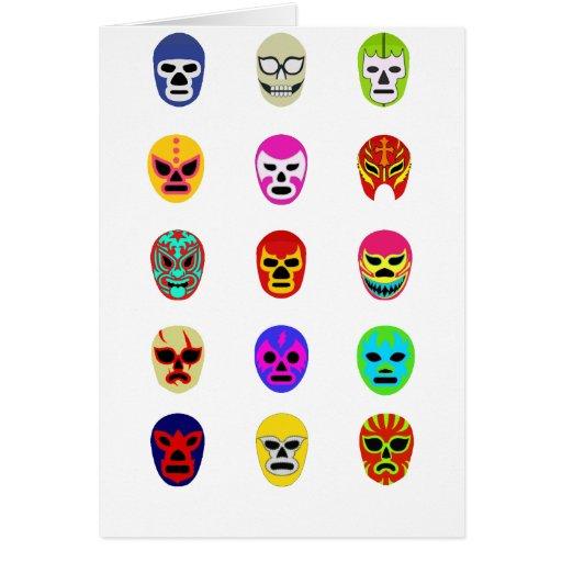 Lucha mexicana de la máscara de Lucha Libre Tarjeton