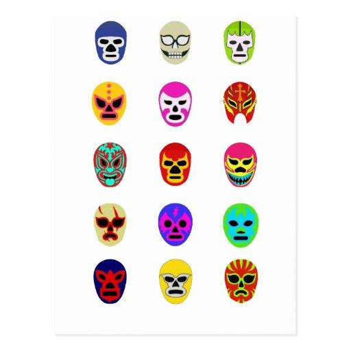 Lucha mexicana de la máscara de Lucha Libre Tarjeta Postal