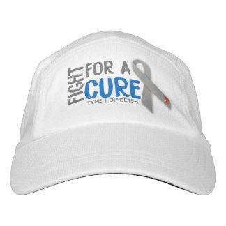 Lucha para curar la diabetes del tipo 1 gorra de alto rendimiento