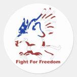 Lucha para los pegatinas de Eagle de la libertad