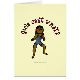 Lucha para mujer oscura tarjeta