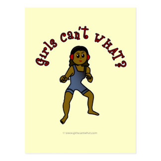 Lucha para mujer oscura tarjeta postal