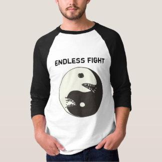 lucha sin fin de yang del yin camiseta