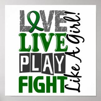 Lucha viva del juego del amor como un cáncer de hí poster