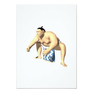 Luchador 3 del sumo invitacion personalizada
