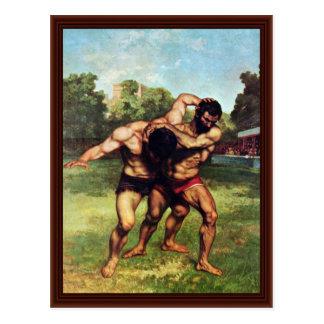 Luchador de Courbet Gustavo Postal