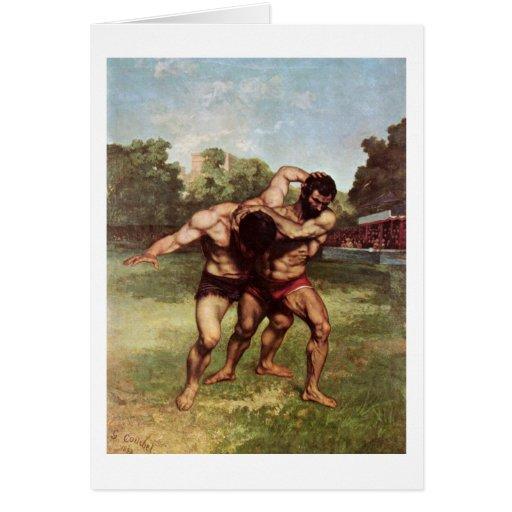 Luchador de Gustave Courbet Tarjeta