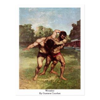 Luchador de Gustave Courbet Tarjeta Postal