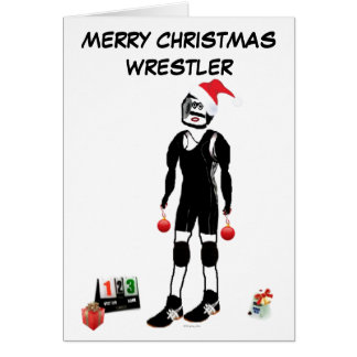 Luchador de las Felices Navidad Tarjeta De Felicitación