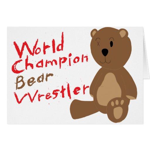 Luchador del oso felicitación
