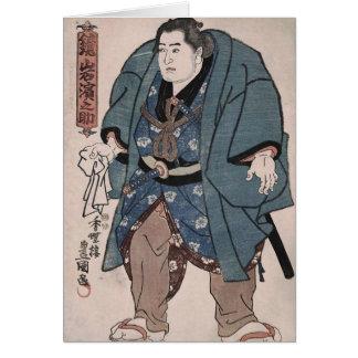 Luchador del siglo XIX Kajamiiwa Hamanosuke del su Tarjeton