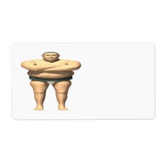 Luchador del sumo etiqueta de envío