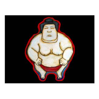 Luchador del sumo tarjeta postal