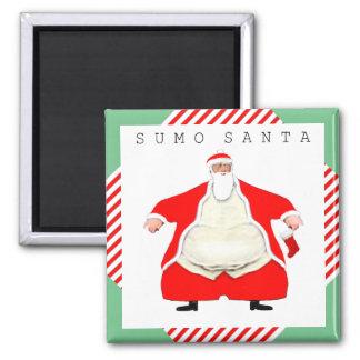 luchador divertido Santa del sumo Imanes