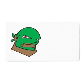 Luchador enmascarado etiquetas de envío