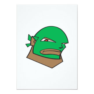 Luchador enmascarado invitación 12,7 x 17,8 cm