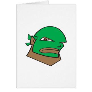 Luchador enmascarado tarjeta de felicitación