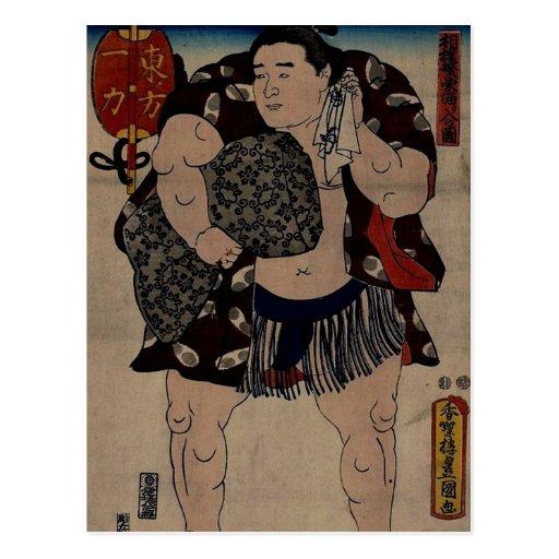 Luchador Ichiriki del sumo Tarjetas Postales