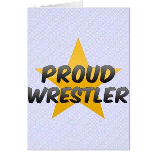 Luchador orgulloso tarjeton