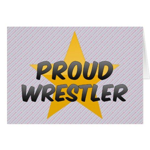 Luchador orgulloso tarjetas