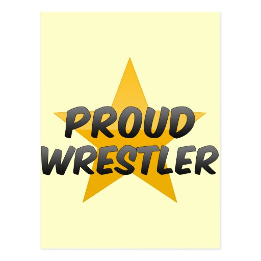 Luchador orgulloso postales