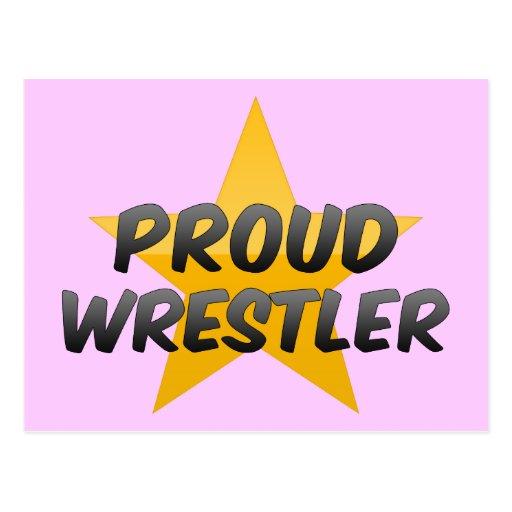 Luchador orgulloso tarjetas postales