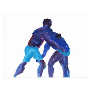 Luchadores azules postal