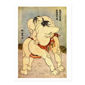 Luchadores del sumo de Hokusai Postal