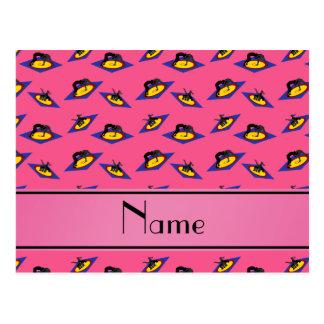 Luchadores rosados conocidos personalizados en la postal