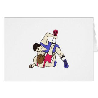 Luchadores Tarjeta De Felicitación