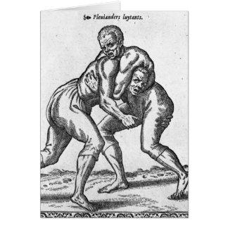 Luchadores turcos tarjetas