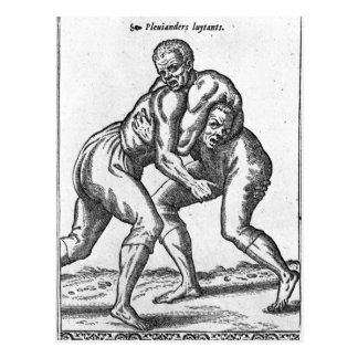 Luchadores turcos postal
