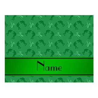 Luchadores verdes conocidos personalizados postal