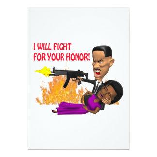 Lucharé para su honor comunicados personalizados