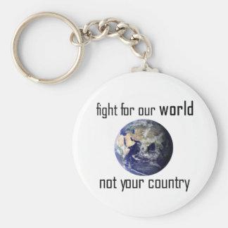 Luche para nuestro mundo, no su llavero del país