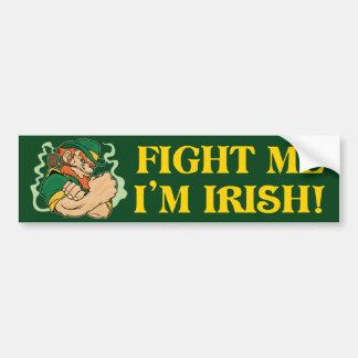 Lúcheme que soy irlandés pegatina para coche