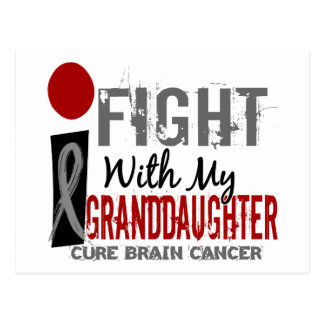 Lucho con mi cáncer de cerebro de la nieta postal