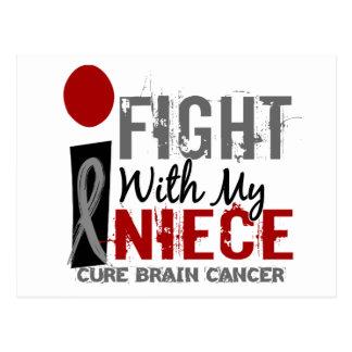 Lucho con mi cáncer de cerebro de la sobrina tarjeta postal