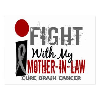 Lucho con mi cáncer de cerebro de la suegra tarjeta postal