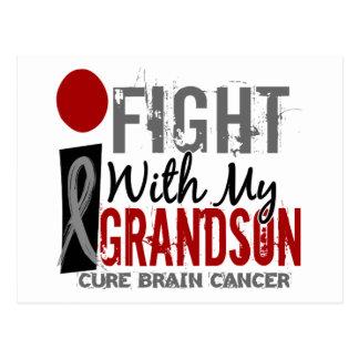 Lucho con mi cáncer de cerebro del nieto postal