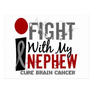 Lucho con mi cáncer de cerebro del sobrino postales