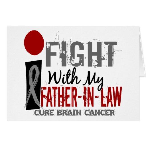 Lucho con mi cáncer de cerebro del suegro felicitacion