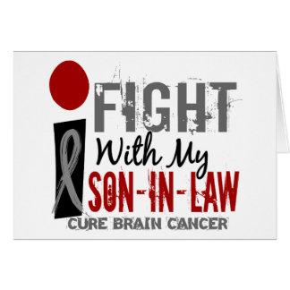 Lucho con mi cáncer de cerebro del yerno tarjetas