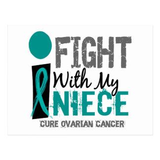 Lucho con mi cáncer ovárico de la sobrina tarjeta postal
