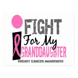 Lucho para mi cáncer de pecho de la nieta postal