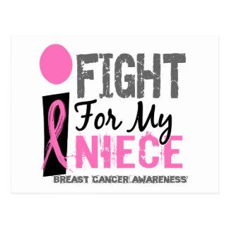Lucho para mi cáncer de pecho de la sobrina postal