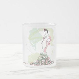 Lucía, la flamenca taza de cristal